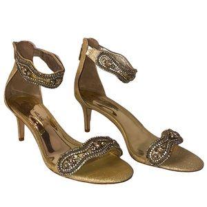Antonio Melani Diamond Beaded High Heel Sandals 9